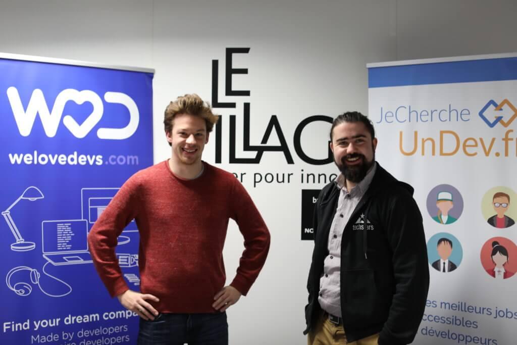 Vincent Cotro et Damien Cavaillès - Fondateurs de WeLoveDevs.com